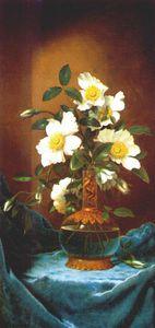 blanco cherokee las rosas en la salamandra jarrón