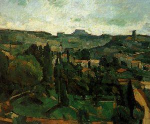 paysage dile de france - oil on canvas -