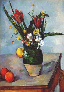 the vase of tulips