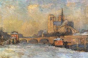 The Quay de La Tounelle and Notre Dame Paris