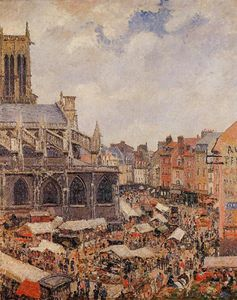 The Market by the Church of Saint-Jacques, Dieppe.