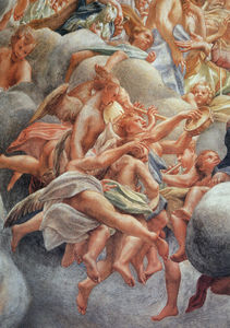 Assumption Of The Virgin, detail of Angelic Musicians