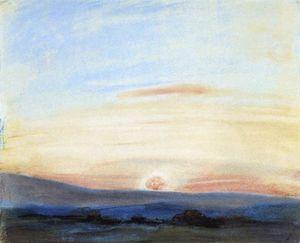 Eugene Study of Sky Setting Sun