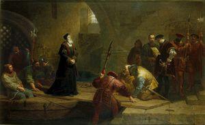 Cranmer at Traitors Gate. Archbishop Cranmer Taken to the Tower