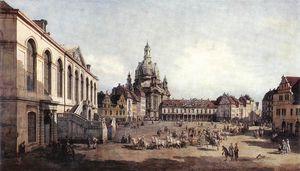 Dresden - New Market Square in Dresden from the Jüdenhof