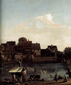 Dresden - Pirna Seen from the Harbour Town (detail)