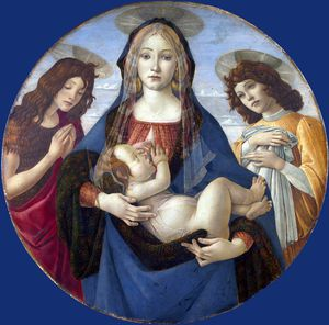 Workshop of Sandro Botticelli - The Virgin and Child with Saint John and an Angel