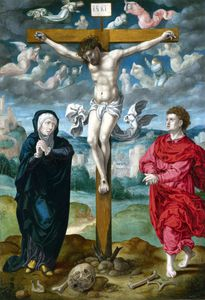 The crucifixion - central panel