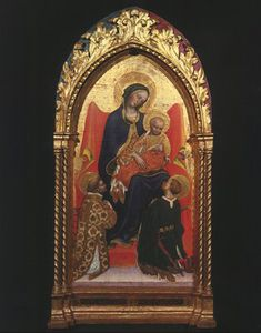 Madonna and Child, with Sts. Lawrence