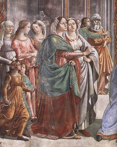1.leftt wall - Marriage of Mary (detail)