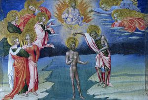 The Baptism of Christ - Predella Panel