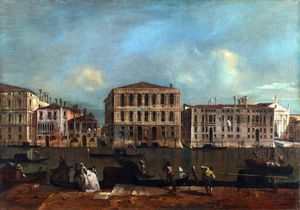 The Grand Canal with Palazzo Pesaro