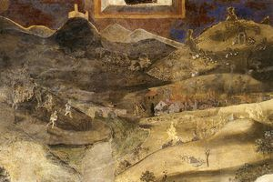Good and Bad-Effects of Bad Government on the Countryside (detail)
