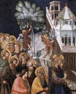 Assisi-vault-Entry of Christ into Jerusalem (detail)