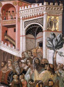 Assisi-vault-Entry christi in jerusalem ( ausschnitt ) 2
