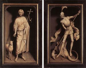 late - Triptych of the Family Moreel (closed)