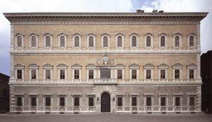 late - Façade of the Farnese Palace