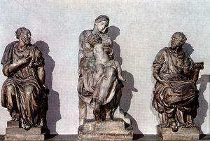 Medicis - Medici Madonna, between Sts Cosmas and Damian
