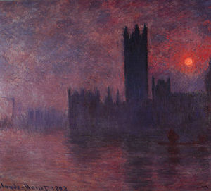 London Houses of Parliament at Sunset