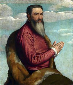 Praying Man with a Long Beard