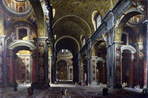 Rome - The Interior of St Peter's