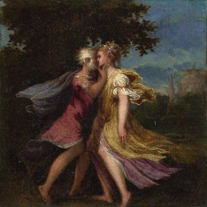 Jupiter seducing Callisto