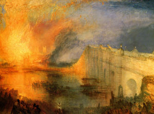 The Burning of the Hause of Lords and commons