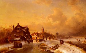 Winter And Summer Canal Scenes-Scene