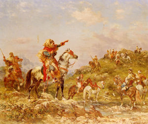 Arab warriors on horseback