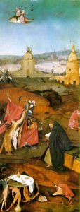 Versuchung des Heiligen Antonius rechten Flügel des Triptychons