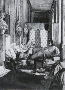 Le Foyer de la Comedie Francaise pendant le Siege de Paris