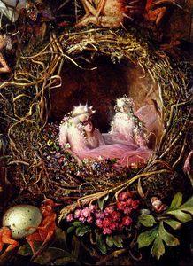 Fairies In A Birds Nest detail
