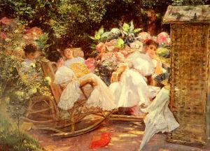 Y ladies in a garden