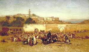 Market Day Outside the Walls of Tangier