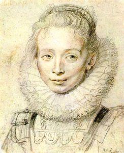 Portrait of a Chambermaid Chalk