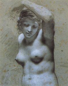 Femme nue en buste