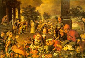 Market Scene with Christ and the Adulteress