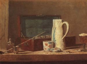 Pipes and Drinking Pitcher, Louvre