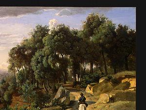 A View near Volterra, Detalj 1, NG Washington