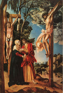 The Crucifixion, pine panel, Pinakothek a
