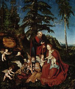 The rest on the flight to Egypt, Staatlic