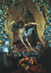 The Trinity, undated, oil on wood, Museum der B
