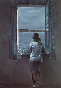 Dalí figure at a window (girl standing at the window),1925,