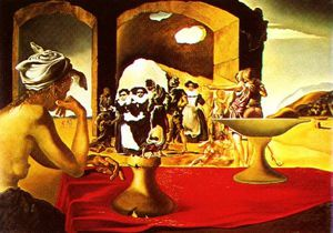 Dalí slave market with invisible bust of voltaire,1940