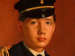 Achille De Gas in the Uniform of a Cadet, detalj 2, - (18)