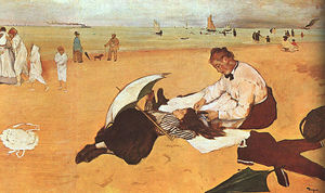 At the Beach, oil on paper, National Gallery at