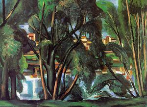 Trees on the Banks of the Seine, Staatsgalerie,