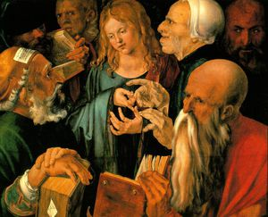 Christ among the doctors,1506, fundacion coleccion thy
