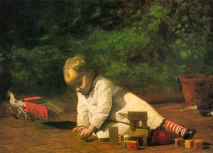 Baby at Play, oil on canvas, National Gallery o