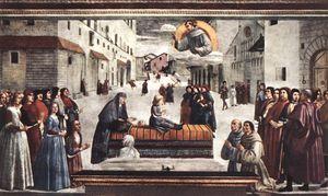 Resurrection of a boy, cappella sassetti, s.trin